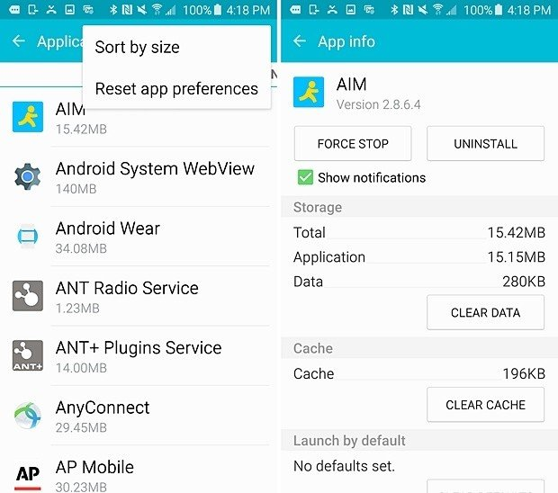 Clear Cache Files To fix insufficient storage available on Android