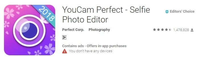YouCam Perfect App For Android
