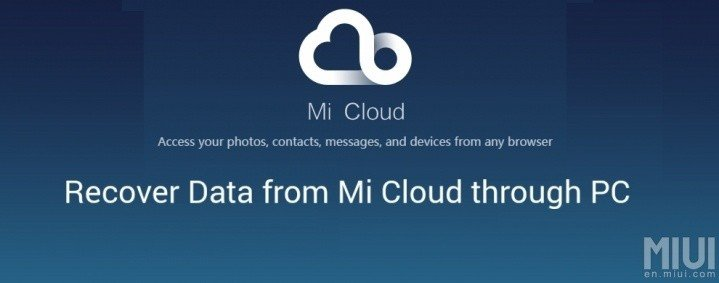 Mi Cloud Data Recovery