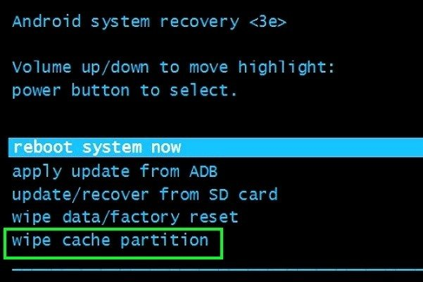 Wipe Cache Partition In Android