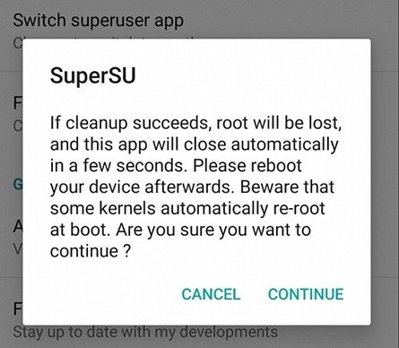 Unroot Rooted Android Using SuperSu App
