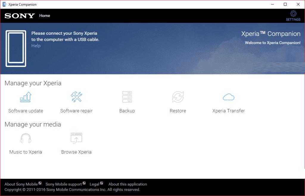 Restore Sony Xperia Data From Xperia Companion Backup