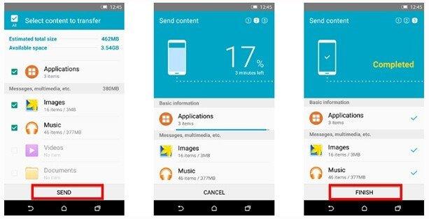 Copy Data To Samsung Galaxy S10, S10 Plus, S10e, Fold Using Smart Switch