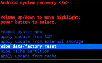 Wipe Data/Factory Reset Android