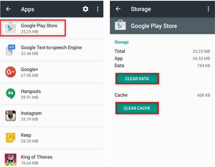 Clear Data and Clear Cache Of Google Play Store To Fix Android Update Problem