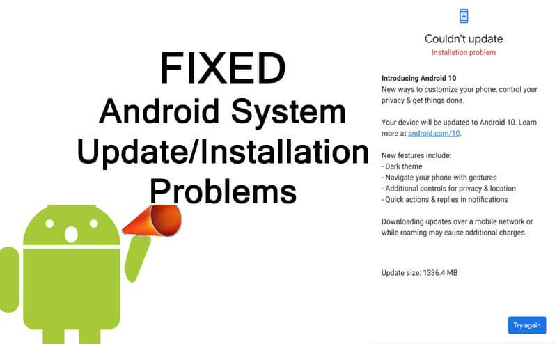 How to fix Android system update error