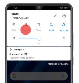 Turn Off and ON Bluetooth On Huawei P Series Phone