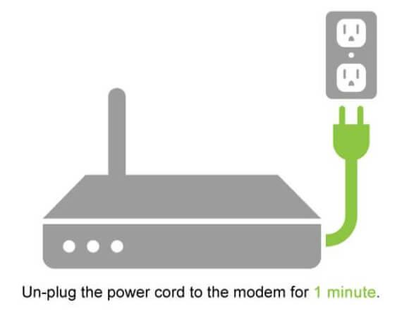 Unplug Router or Modem
