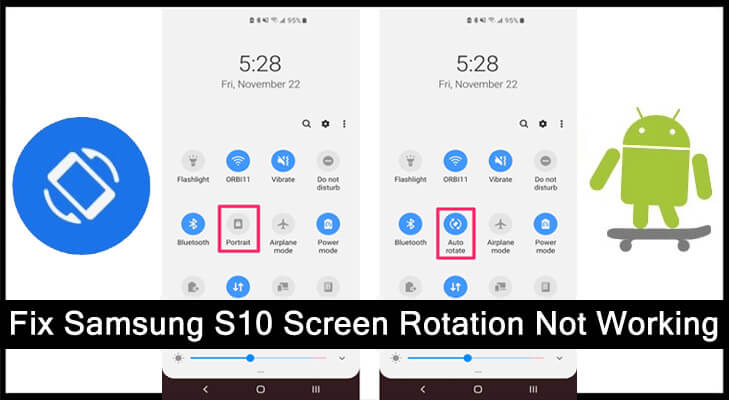 How To Fix Samsung Galaxy S10 Auto Rotate Screen Not Working