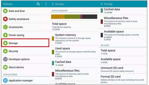 Check Storage Space On Device