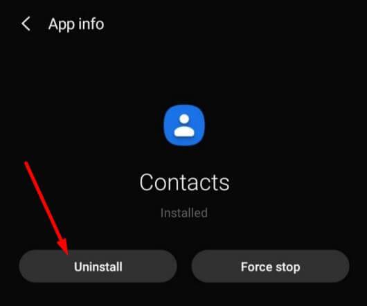 Uninstall Google Contacts