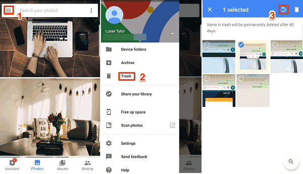 Recover Deleted Videos From Google Photos